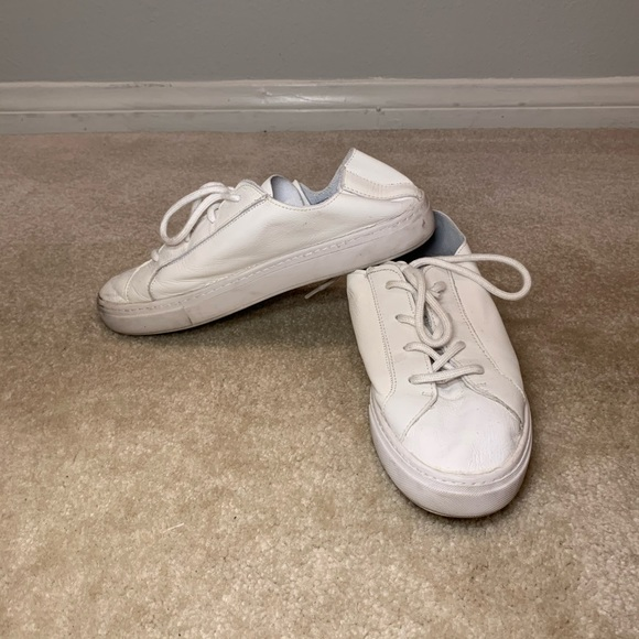 Zara Shoes   White Leather Sneakers